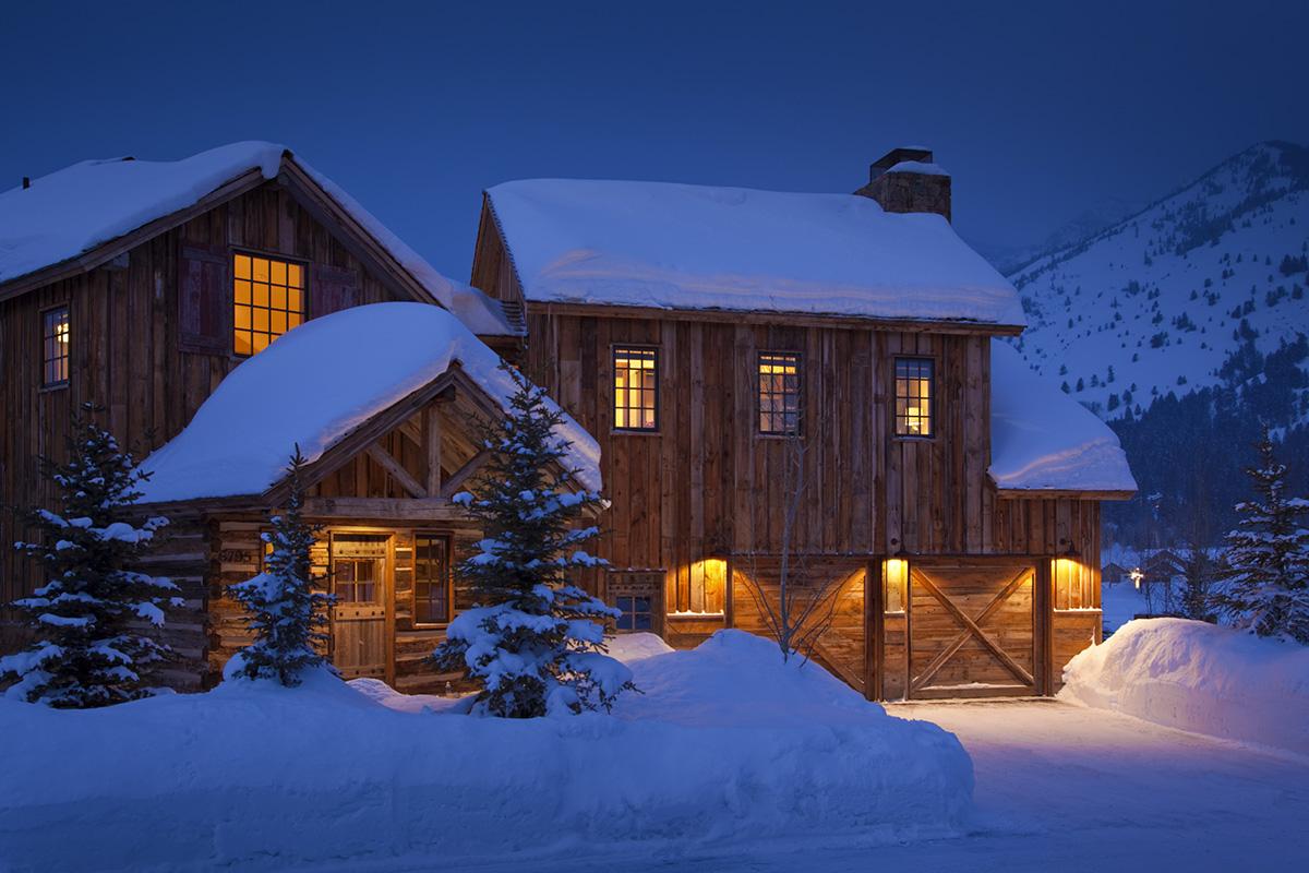 Luxury cabin rental in teton village shooting star cabin 08 for Teton cabin rentals