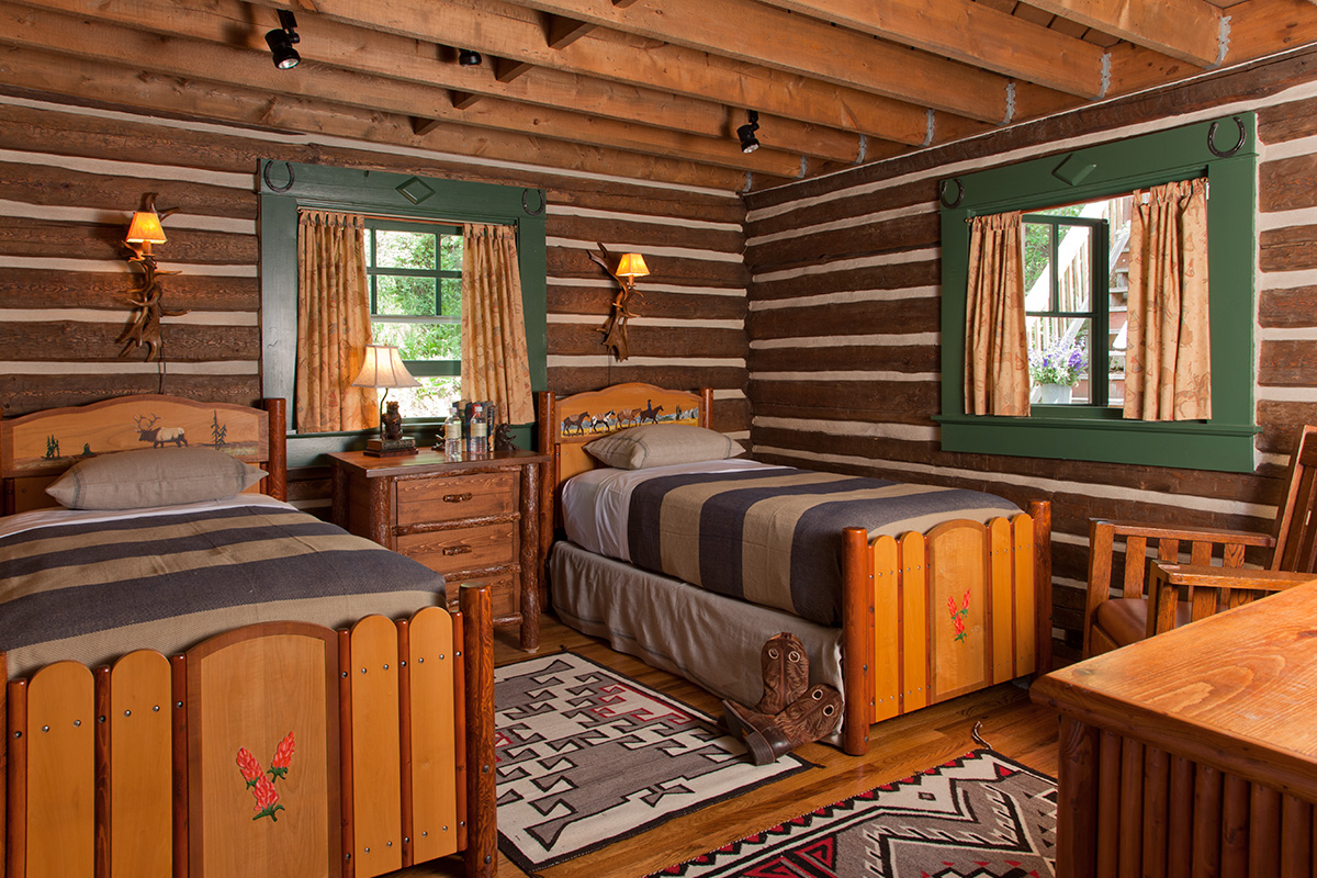 ... Guest Bedroom 1   The Cabin   Jackson Hole Luxury Cabin Rental ...