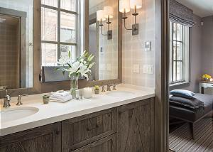Guest Bathroom 1 - Fish Creek Lodge - Teton Village Luxury Cabin