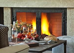 Great Room Fireplace- Fish Creek Lodge - Teton Village Luxury