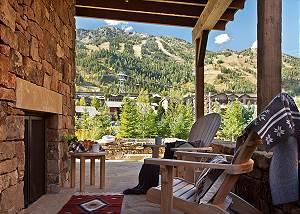 Patio - Fish Creek Lodge - Teton Village Luxury Cabin Rental
