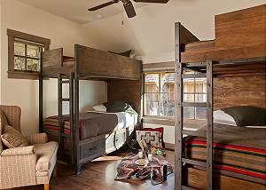 Guest Bedroom 2 - Fish Creek Lodge - Teton Village Luxury Cabin