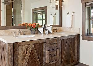 Guest Bed 2 - Fish Creek Lodge - Teton Village Luxury Cabin