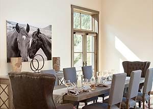 Dining Area - Fish Creek Lodge - Teton Village Luxury Cabin