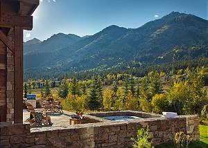 Front Patio - Fish Creek Lodge - Teton Village Luxury Cabin