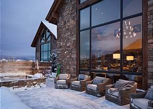 Exterior - Patio - Fish Creek Lodge - Teton Village Luxury Cabin