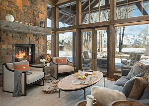 Great Room - Jackson Hole Golf and Tennis - Luxury Cabin Rental