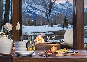 Deck Teton View - Jackson Hole Golf and Tennis - Luxury Cabin