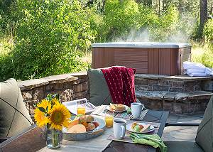 Patio - Granite Ridge Lodge - Luxury Teton Village Cabin