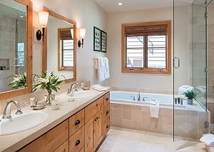 Guest Bath 2 - Granite Ridge Lodge - Luxury Teton Village Cabin