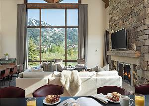 Great Room - Fish Creek Lodge - Teton Village Luxury Cabin