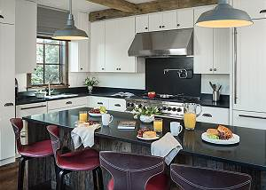 Kitchen - Fish Creek Lodge - Teton Village Luxury Cabin Rental