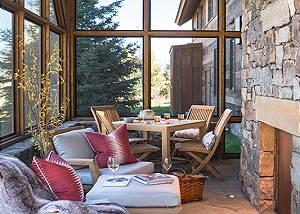 Patio - Lodge at Shooting Star - Teton Village Luxury Cabin