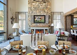 Great Room - Lodge at Shooting Star - Teton Village Luxury Cabin