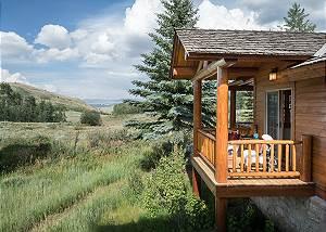 Dining Room Balcony - Two Elk Lodge  - Luxury Cabin  - Jackson