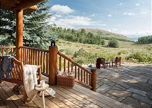 Back Deck/Patio - Two Elk Lodge  - Luxury Cabin  - Jackson Hole