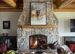 Great Room - Two Elk Lodge  - Luxury Cabin  -  Jackson Hole