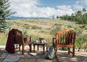 Back Patio - Two Elk Lodge  - Luxury Cabin  - Jackson Hole
