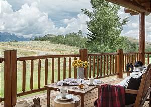 Great Room Balcony - Two Elk Lodge  - Luxury Cabin  - Jackson