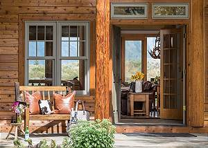 Front Entry - Two Elk Lodge  - Luxury Cabin  - Jackson Hole