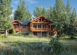 Back Exterior - Two Elk Lodge  - Luxury Cabin  - Jackson Hole
