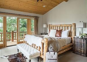 Master Bed - Two Elk Lodge  - Luxury Cabin  - Jackson Hole, WY