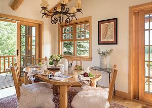 Dining Table - Two Elk Lodge  - Luxury Cabin  - Jackson Hole