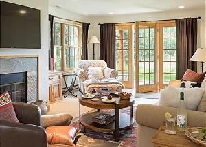Lower Living Room -Two Elk Lodge  - Luxury Cabin - Jackson, WY