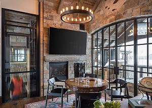 Den -  Lake Vista - Teton Village Luxury Private Villa Rental
