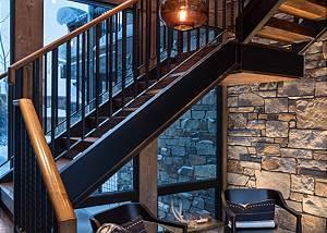 East Stairway -  Lake Vista - Teton Village Luxury Private Villa