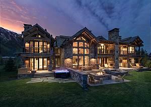 Exterior Back -  Lake Vista - Teton Village Luxury Private Villa