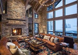 Great Room -  Lake Vista - Teton Village Luxury Private Villa