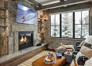 Media Room 2 -  Lake Vista - Teton Village Luxury Private Villa