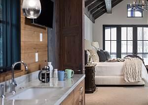 Master Bedroom -  Lake Vista - Teton Village Luxury Villa
