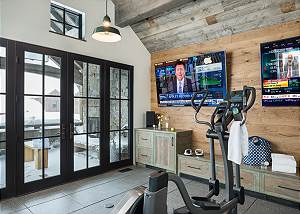 Fitness Room -  Lake Vista - Teton Village Luxury Private Villa