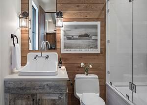 Bunk Room Bathroom -  Lake Vista - Teton Village Luxury Villa