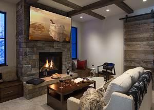 Guest Family Room -  Lake Vista - Teton Village Luxury Villa