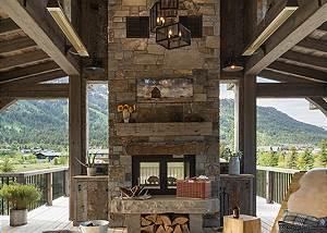 Observation Deck -  Lake Vista - Teton Village Luxury Villa