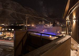 Deck Hot Tub - Pearl at Jackson - Luxury Penthouse Jackson Hole