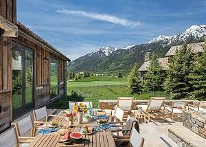 Back Deck - Four Pines - Teton Village Luxury Cabin Rental