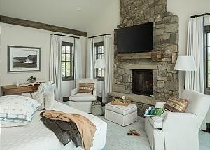 Master Bedroom - Four Pines - Teton Village Luxury Cabin Rental
