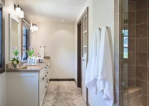 Guest Bathroom - Four Pines - Teton Village Luxury Cabin Rental
