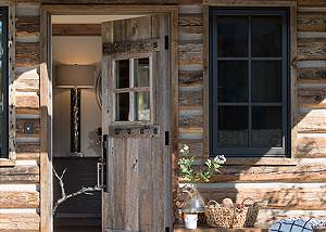 Front Door - Four Pines - Teton Village Luxury Cabin Rental