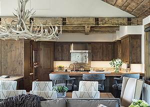 Kitchen/Dining - Four Pines - Teton Village Luxury Cabin Rental