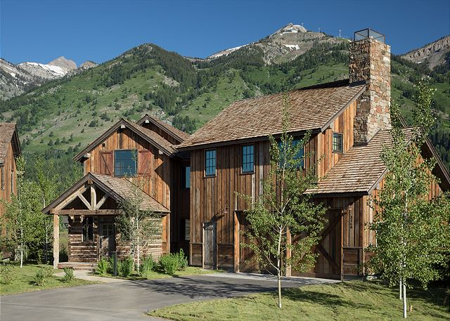 Front of Home - Four Pines - Teton Village Luxury Cabin Rental