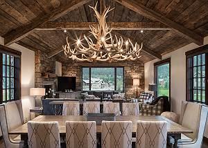 Dining Table - Four Pines - Teton Village Luxury Cabin Rental