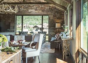 Great/Dining Room - Four Pines - Teton Village Luxury Cabin