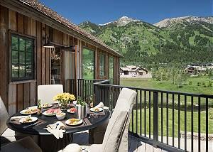 Balcony - Four Pines - Teton Village Luxury Cabin Rental