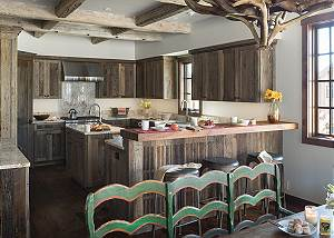 Kitchen - Four Pines - Teton Village Luxury Cabin Rental