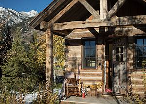 Front Door - Four Pines - Teton Village Luxury Cabin Rental